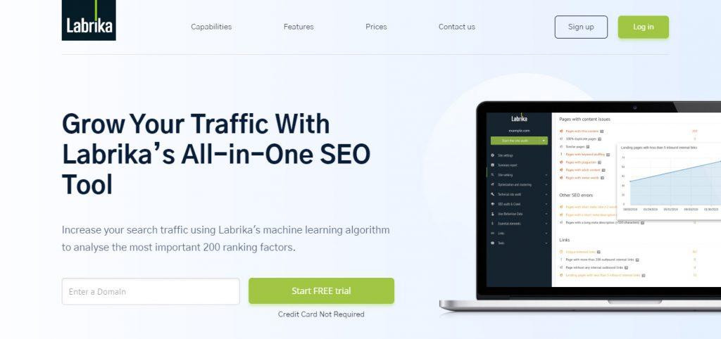 SEO optimization tool labrika