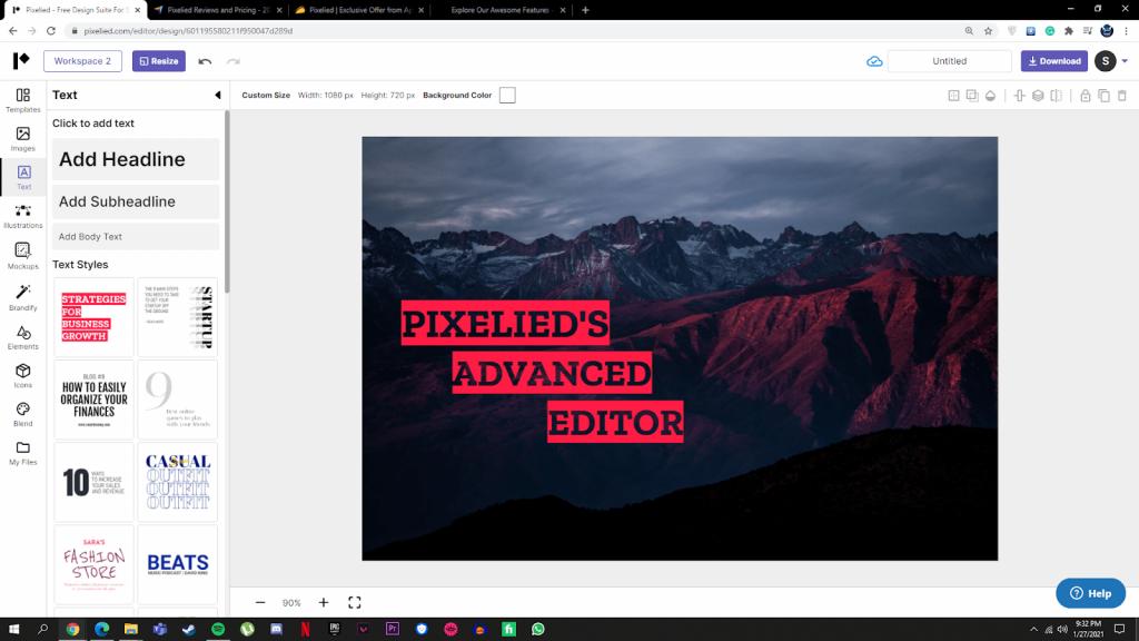 pixelied advanced edito