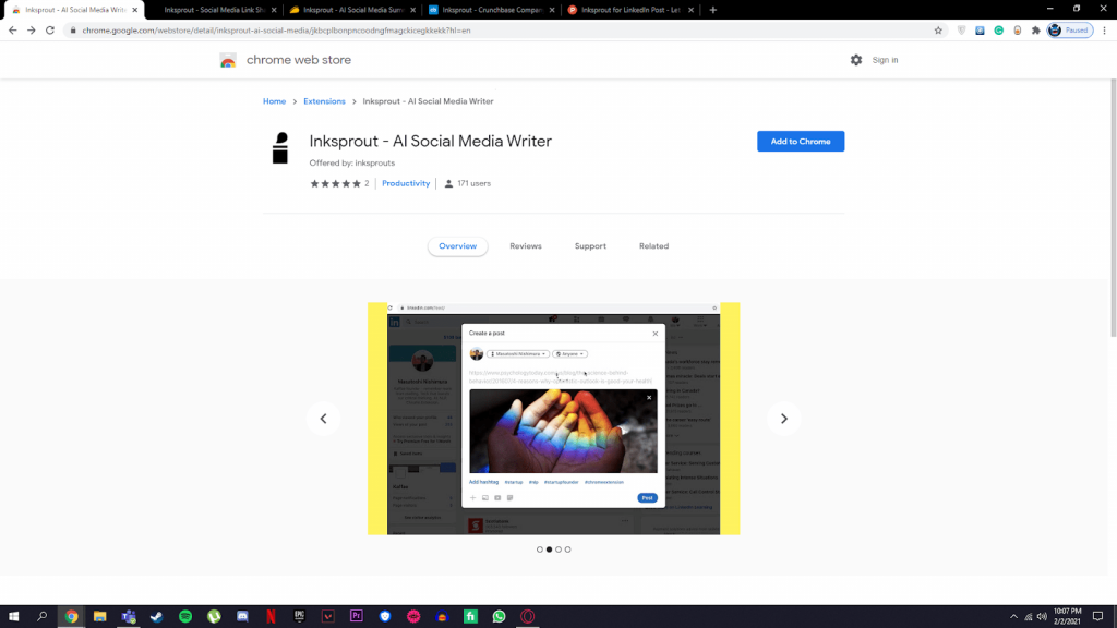 inksprout chrome extension