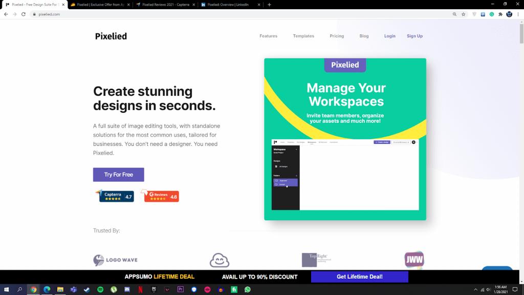 pixelied homepage